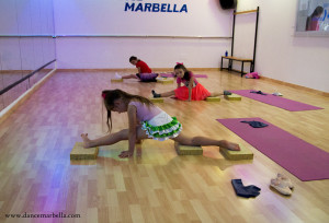 Stretching at Dance Marbella