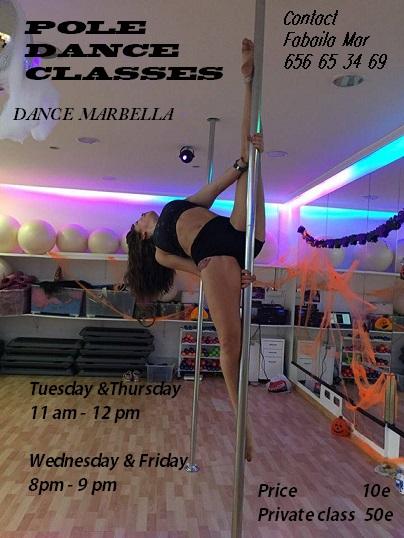 Pole dance at Dance Marbella
