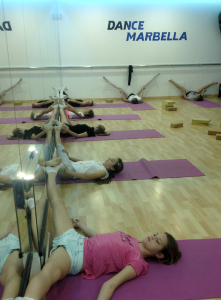 stretching in Marbella, Dance Marbella, danc school in Marbella,