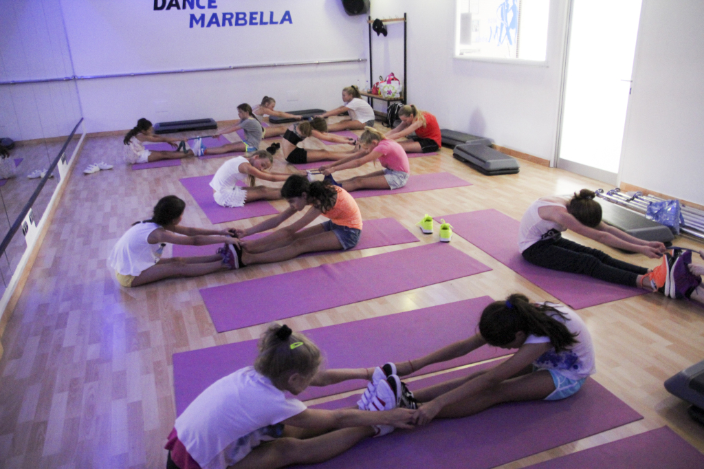 Stretching after SPORT ACTIVITIES - to make the body relaxed and flexible!!! — at Dance Marbella.